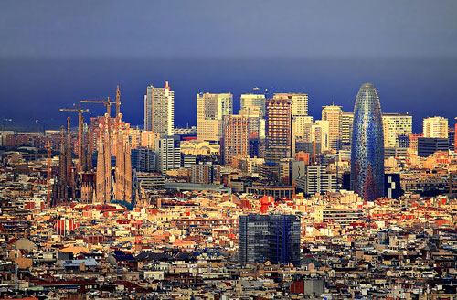 barcelona spain skyline cruise port begin departure barcelon espana ship bayner very would catalonia beach places there spanish barcellona introduction